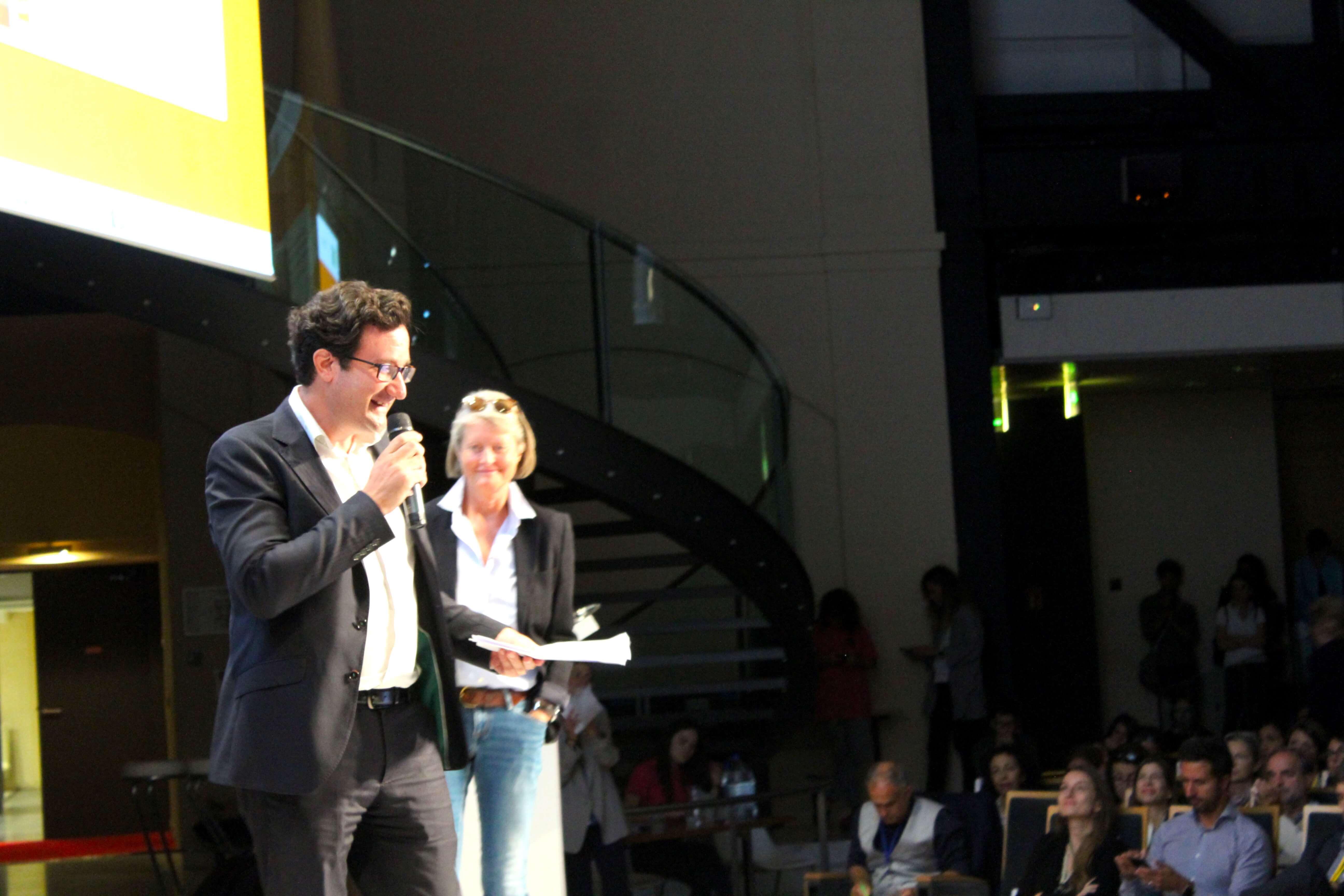 Christian de Boisredon accompagné d'Elena Comelli.
